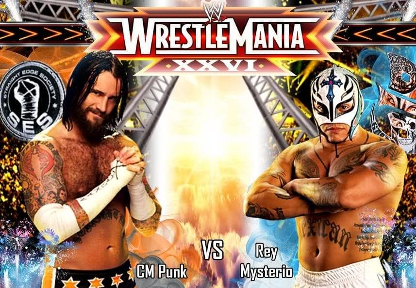 CM PUNK VS REY MYSTERIO WRESTLEMANIA 2010