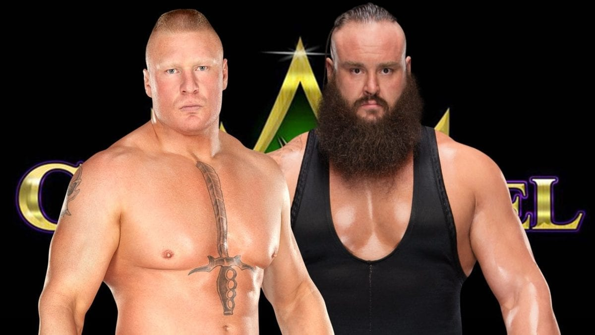 Brock lesnar vs Braun Strowman crown jewel 2018