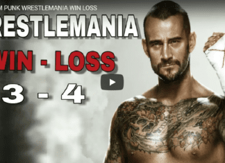 CM Punk WrestleMania Record