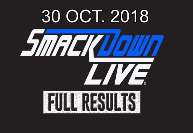 WWE Smackdown live  30 October 2018 Quick Results