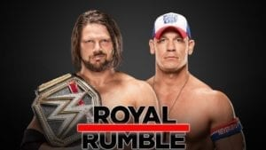John Cena vs AJ Styles WWE Championship Royal Rumble 2018