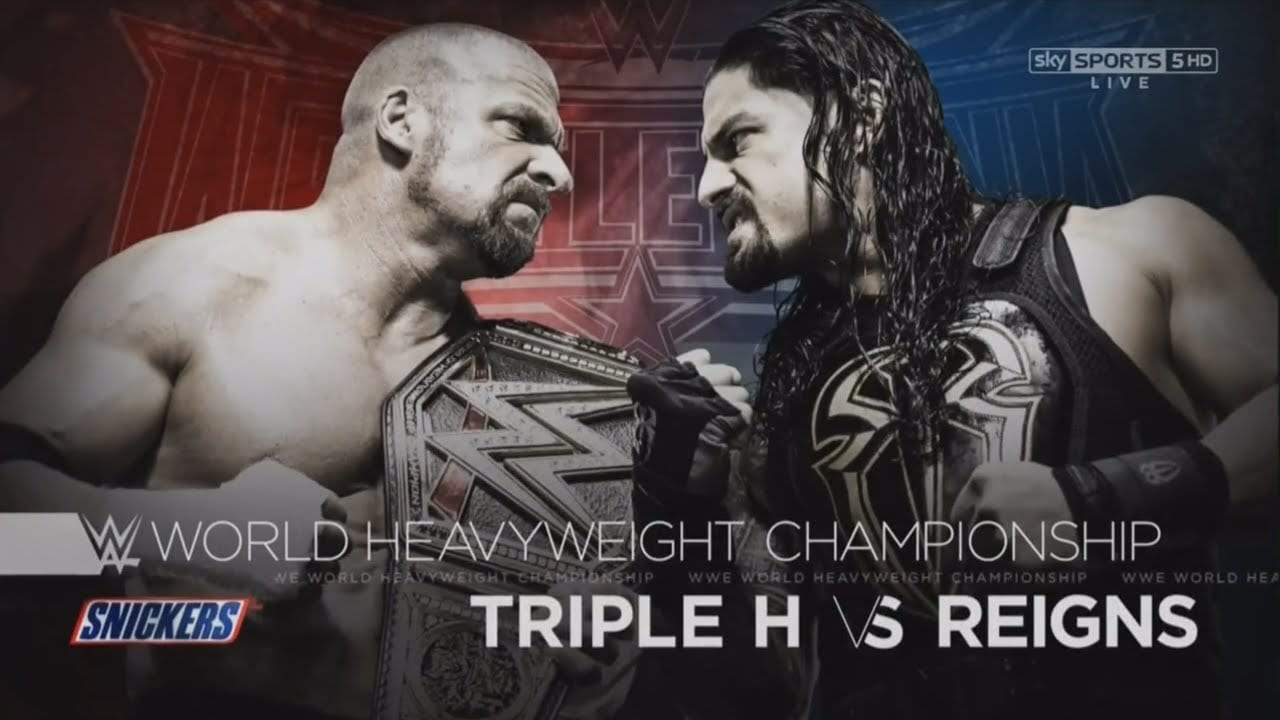 triple h vs roman reigns wrestlemania 2016