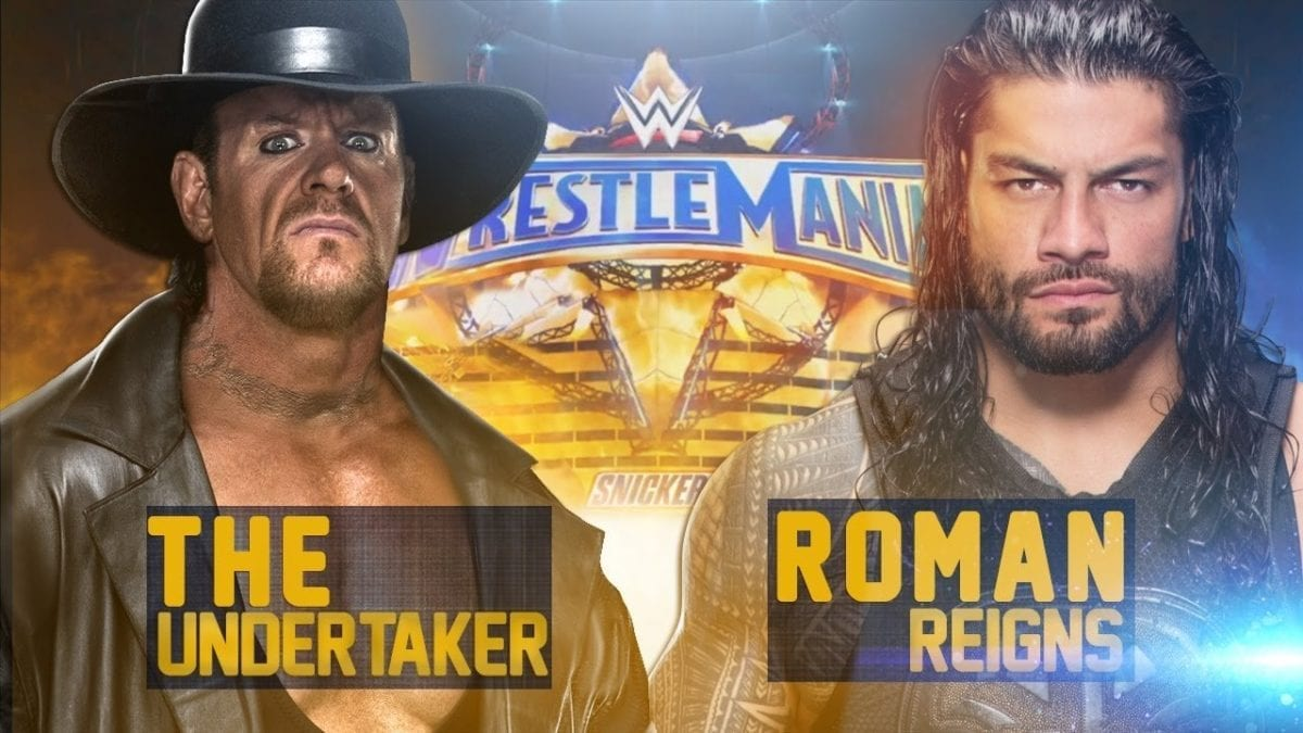 Roman Reigns vs Undertaker Wreslemania 33