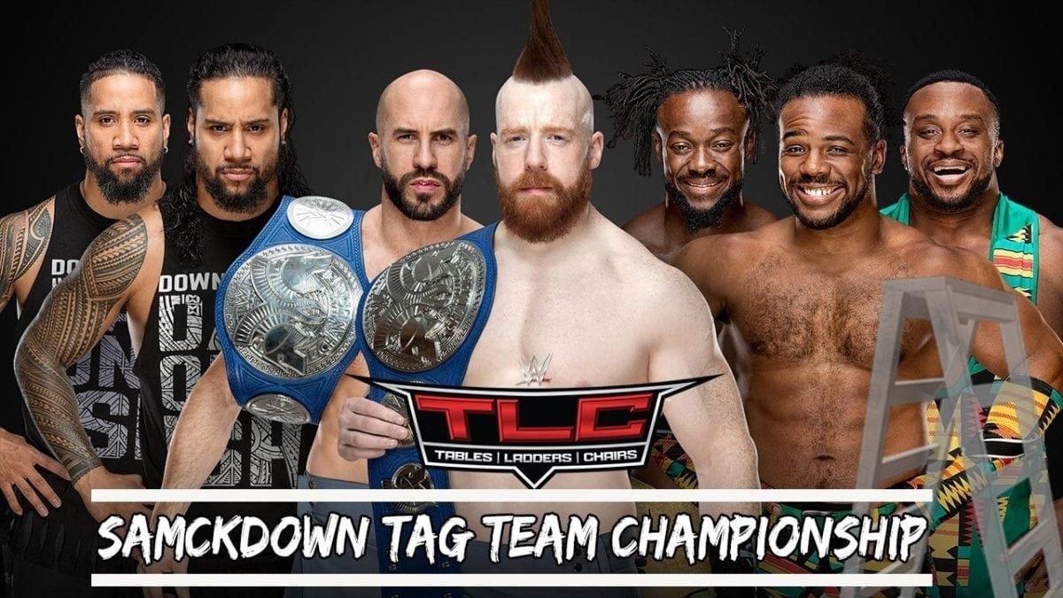 The Bar (c) vs. The New Day vs. The Usos (SmackDown Tag Team Championships) tlc 2018
