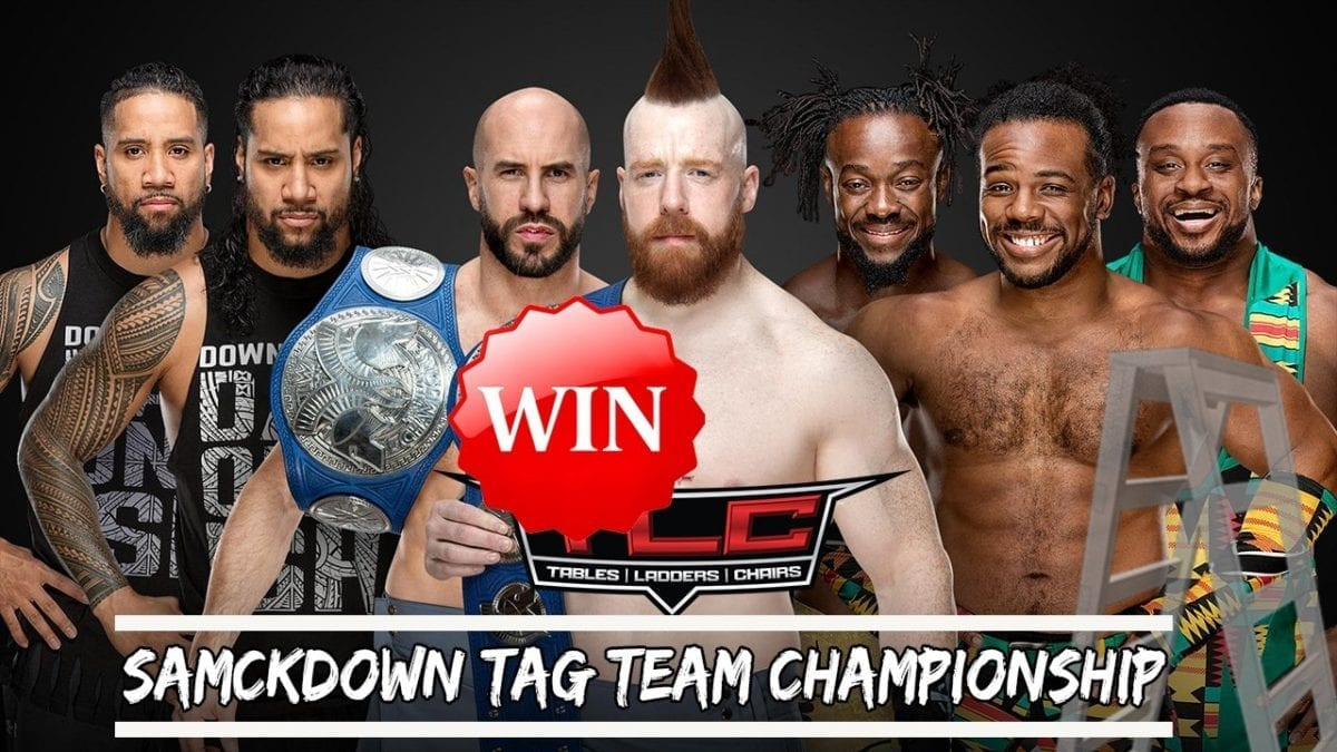 SmackDown Tag Team Champions The Bar def. The Usos and The New Day (Triple Threat Match)