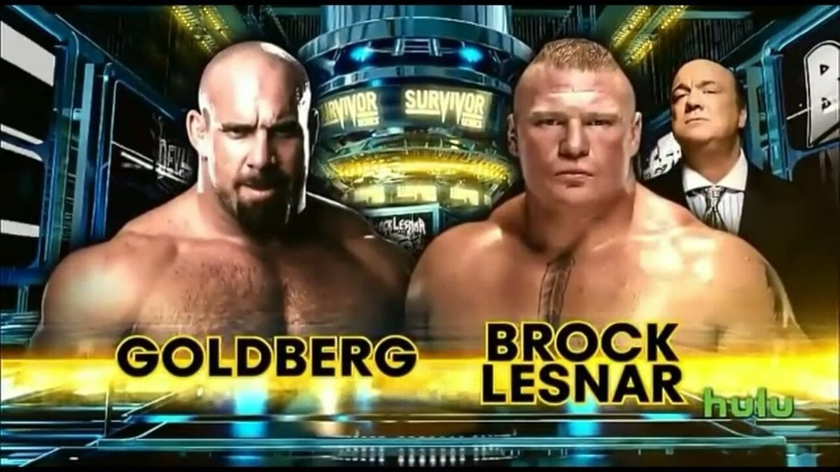 Brock Lesnar VS Goldberg Survivor Series 2016