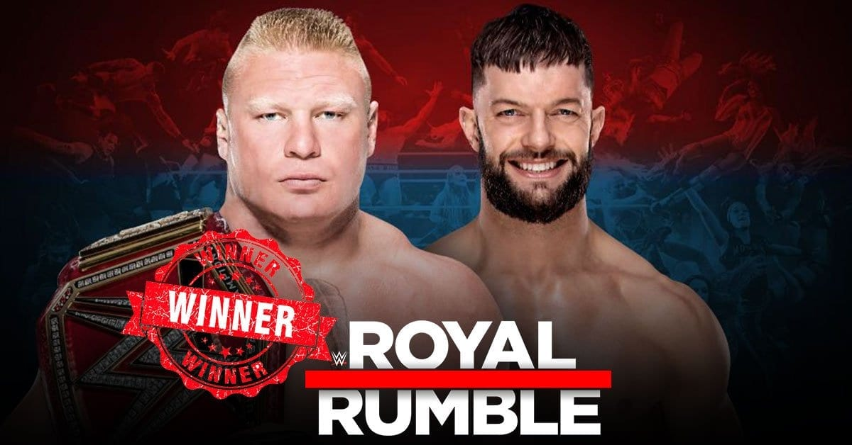 BROCK LESNAR VS FINN BALOR ROYAL RUMBLE 2019