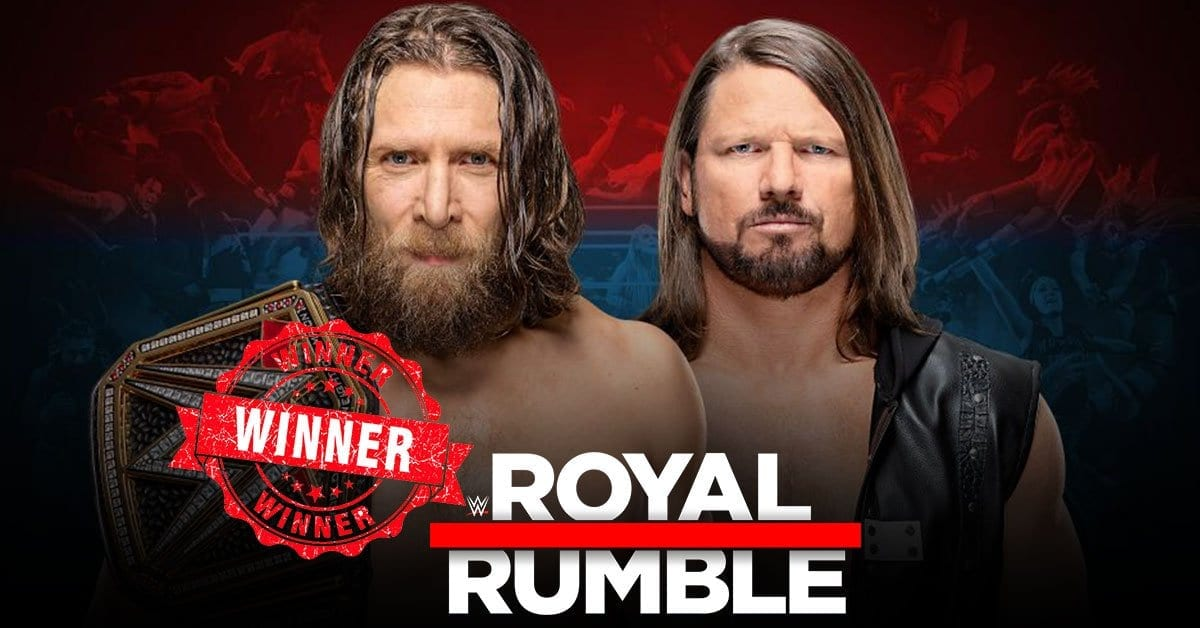 A.j. styles vs daniel bryan royal rumble 2019