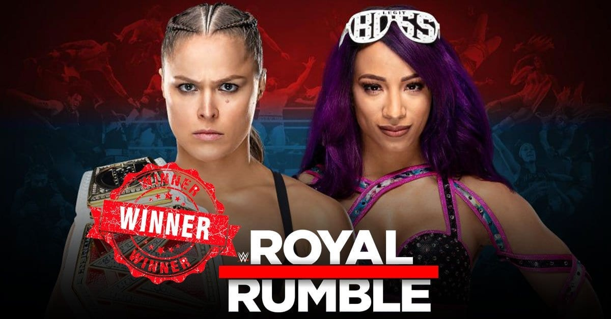 Ronda Rousey (c) vs Sasha Banks - WWE RAW Women's Championship Match