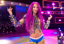 Sasha Banks at Royal Rumble 2019