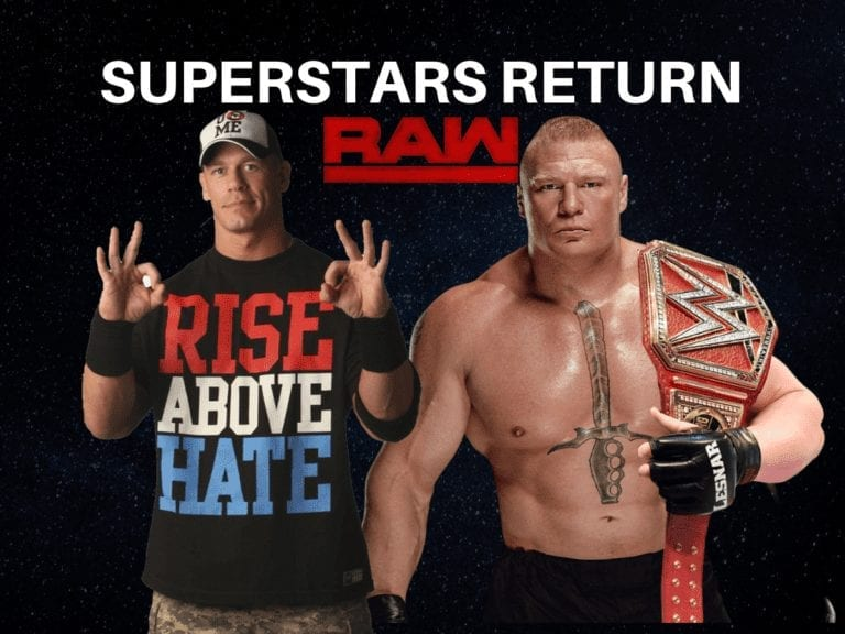 Superstars return for first episode of RAW in 2019