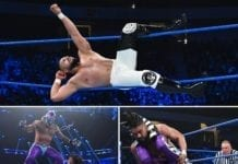 Andrade and Rey MySterio at SmackDown
