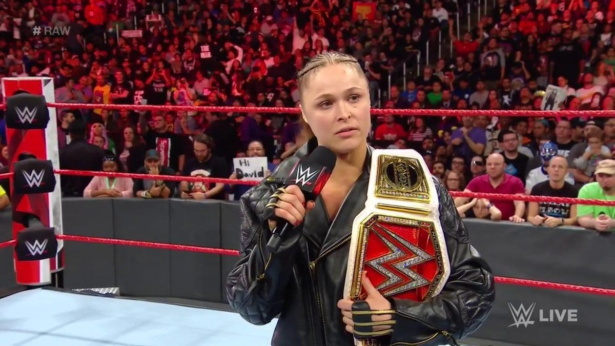 ronda rousey relinquishes title