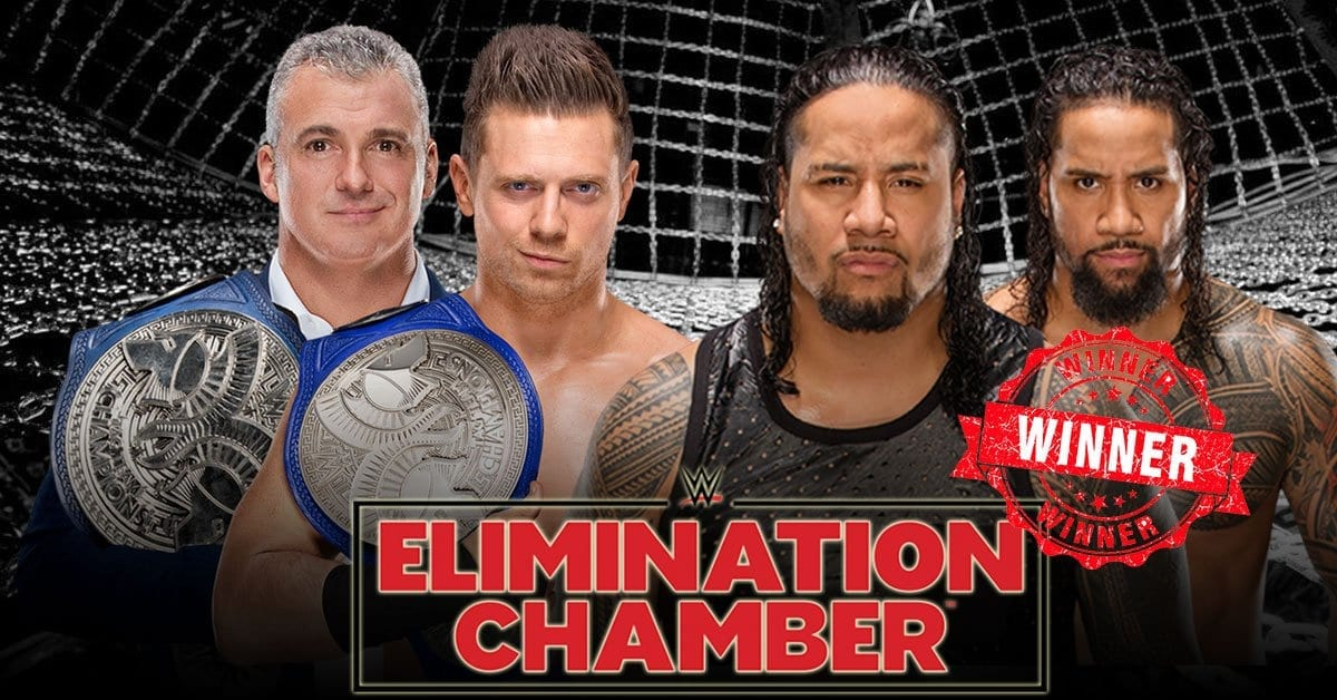 Smackdown tag team championship elimination chamber 2019