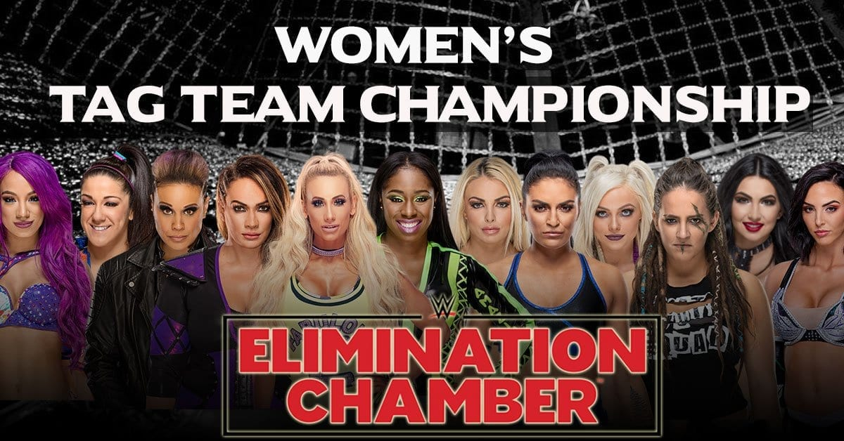 Women's Tag Team Match In elimination chamber 2019
