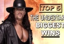 undertaker top 5 wins