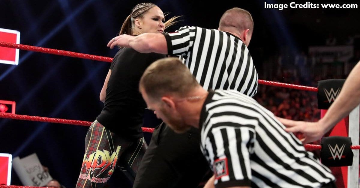 Ronda Rousey punches Referee