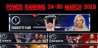 wwe power ranking 25 march 2019, power ranking 24-30 march, wwe power ranking 2019