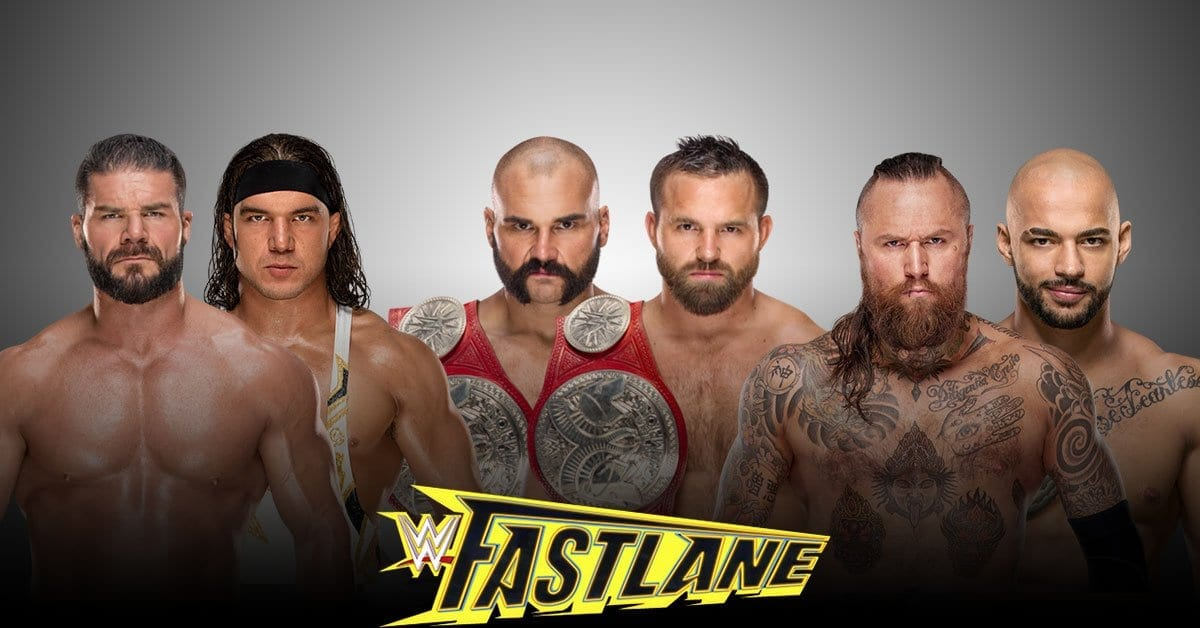 The Revival vs Bobby Roode and Chad Gable vs Ricochet and Aleister Black for the RAW Tag Team Championship at Fastlane 2019
