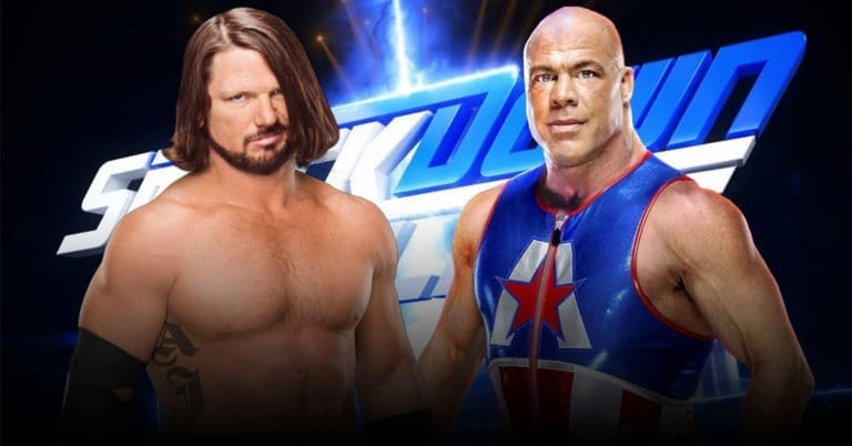 Kurt Angle vs AJ Styles announced for this week at SmackDown