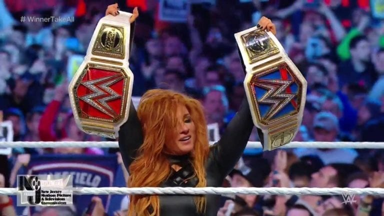 Becky Lynch Became First Women's Double Champion at WrestleMania 35