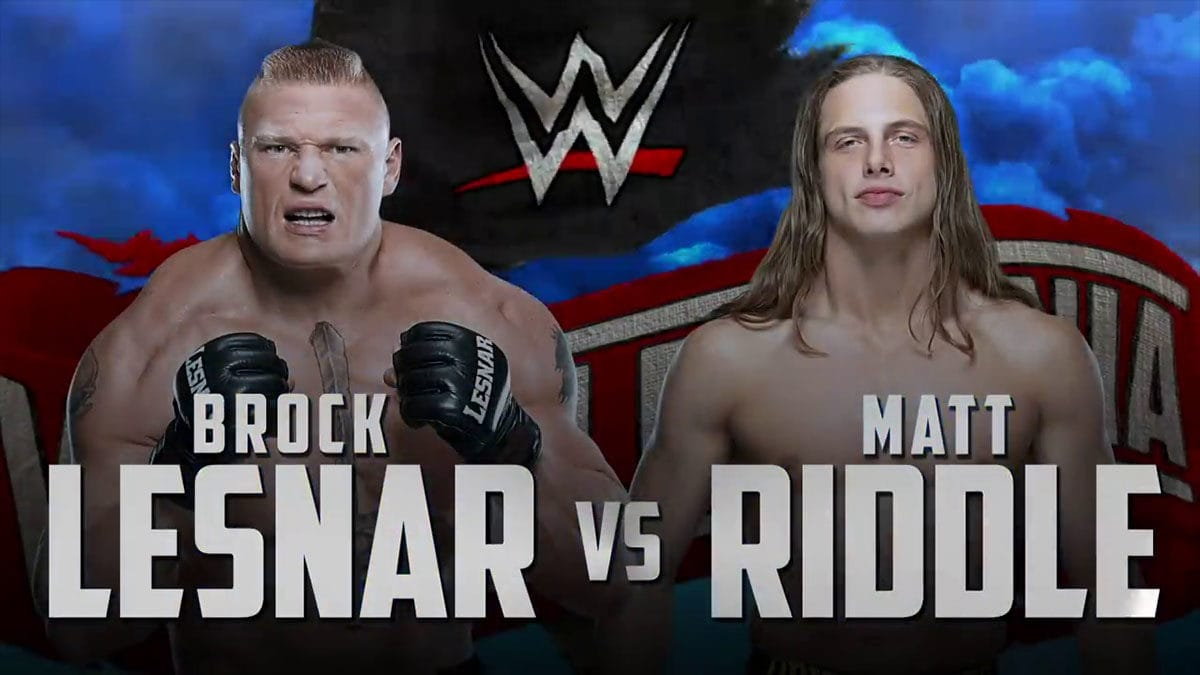 Brock Lesnar vs Matt Riddle WrestleMania 36, WrestleMania 36 Matches,