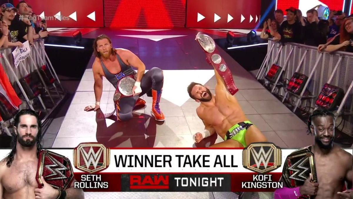 Curt Hawkins and Zack Rider Defeat The Revival on Monday night Raw 8 april 2019, Curt Hawkins retains raw tag team championship at 4/8/2019, Cirt Hawkins and Zack Rider won tag team championship