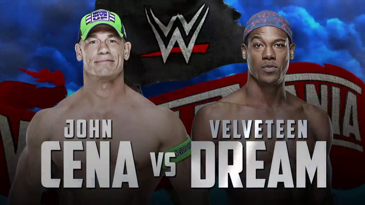 John Cena vs Velveteen Dream WrestleMania 36, WrestleMania 36 Matches,
