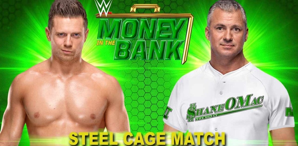 The Miz vs Shane McMahon Money In The Bank 2019, Money in the bank 2019 match card