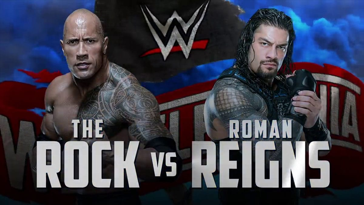 The Rock vs Roman Reigns WrestleMania 36, WrestleMania 36 Matches,