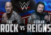The Rock vs Roman Reigns WrestleMania 36, WrestleMania 36,
