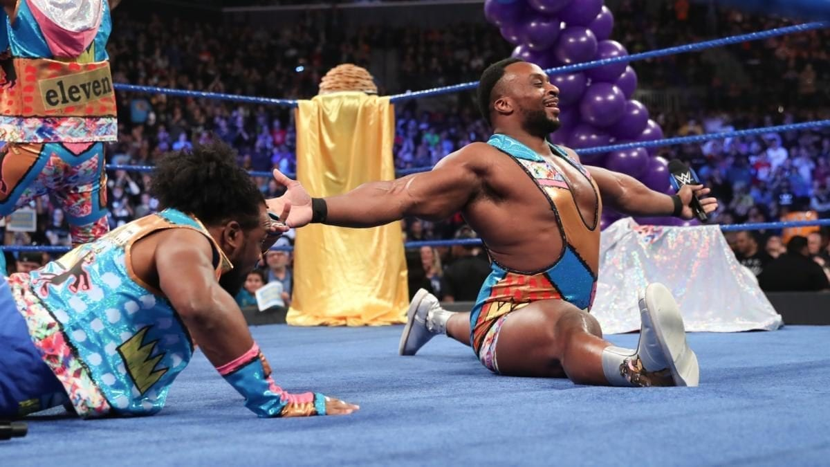Big E doing Split on SmackDown