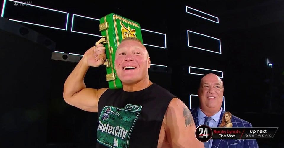 Brock Lesnar MITB Briefcase RAW 20 May 2019
