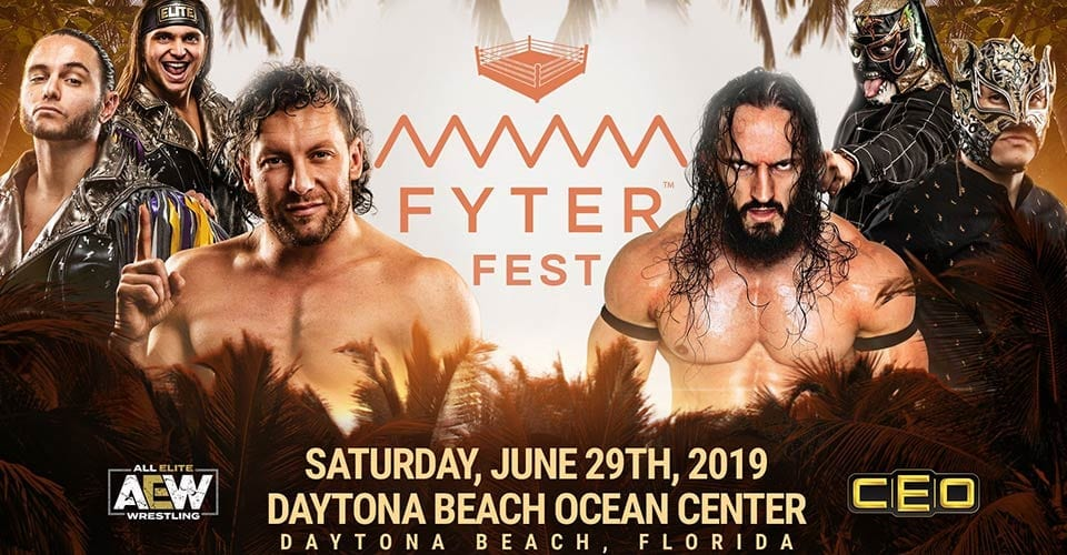 Kenny Omega Young Bucks vs PAC Lucha Bros Fyter Fest 2019