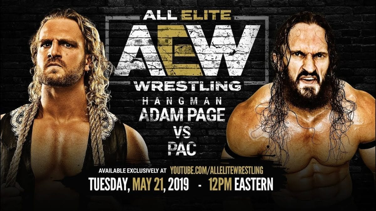 PAC vs Adam Page Wrestlepro 18 May 2019, PAC vs Adam Page AEW Double or Nothing,