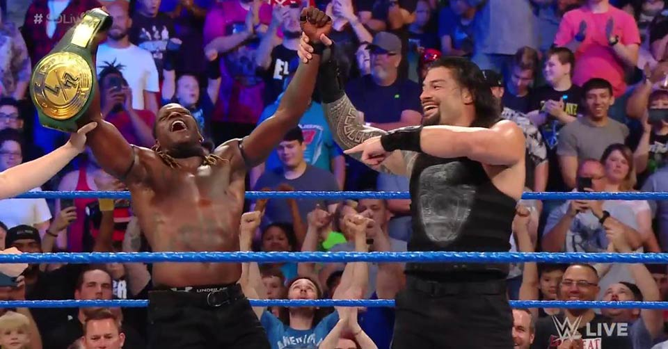 Roman Reigns and R-Truth 24/7 Champoinship SmackDown 28 May 2019