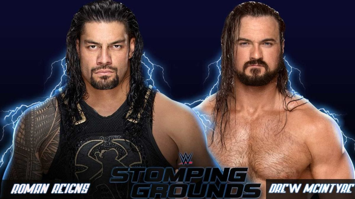 Roman Reigns vs Baron Corbin Stomping Grounds 2019, Stomping Grounds 2019 matches