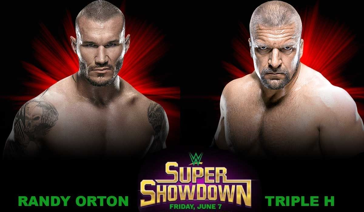 Triple H vs Randy Orton Super ShowDown 2019, randy orton vs Triple H 2019