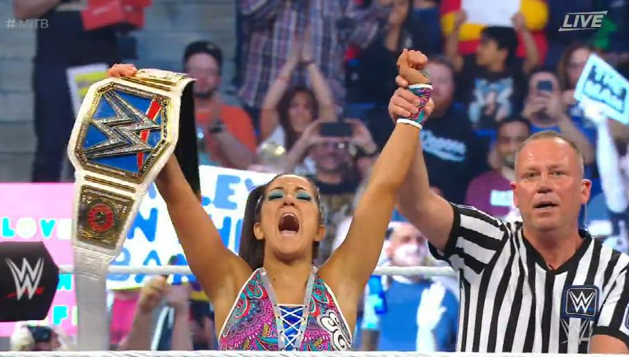 bayley won SmackDown championship at Money In the Bank 2019, Beyley SD Champion Money In The Bank 2019