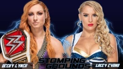 Becky Lynch vs Lacey Evans WWE Raw Women's Championship Stomping Grounds 2019