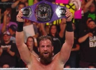 Drew Gulak Cruiserweight Champion at Stomping Grounds 2019