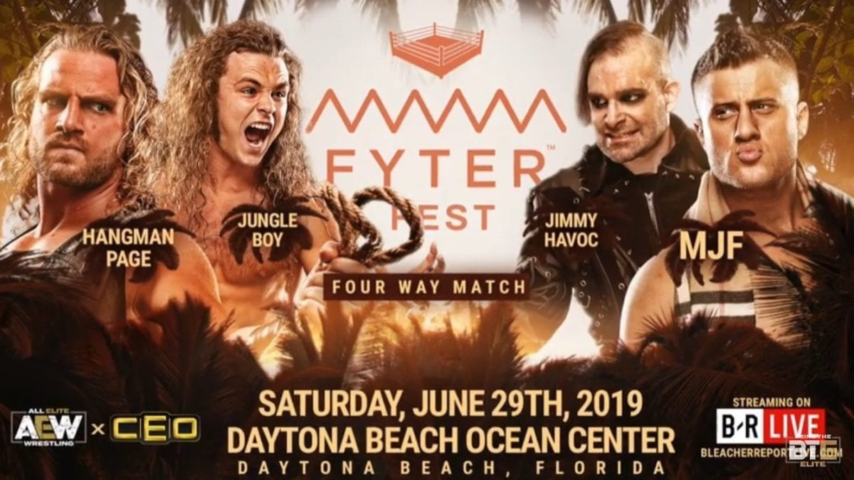 Adam Page vs Jungle Boy vs MJF vs Jimmy Havoc, Fatal 4 Way Match Fyter Fest 2019