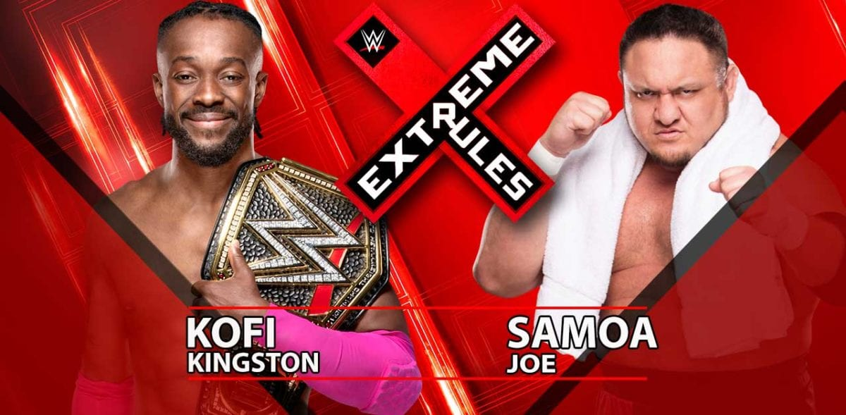 Kofi Kingston vs Samoa Joe WWE Championship Extreme Rules 2019