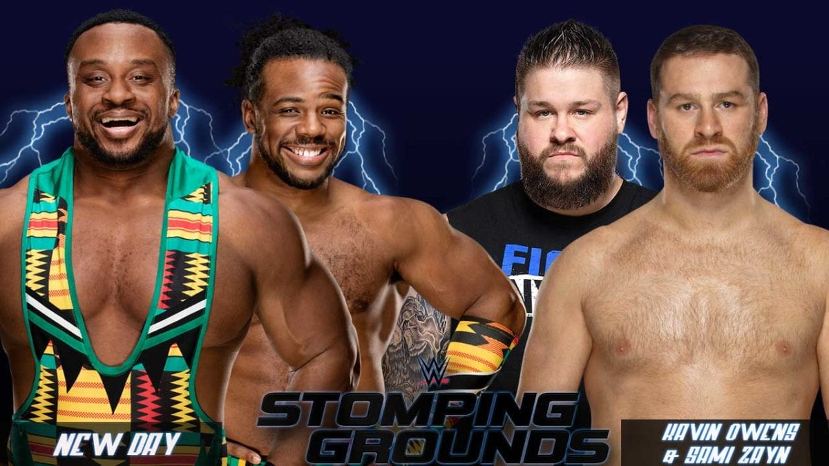 New Day vs Kavin Owens & Sami Zayn Stomping Grounds 2019