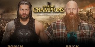 Roman Reigns vs Erick Rowan WWE Clash of Champions 2019