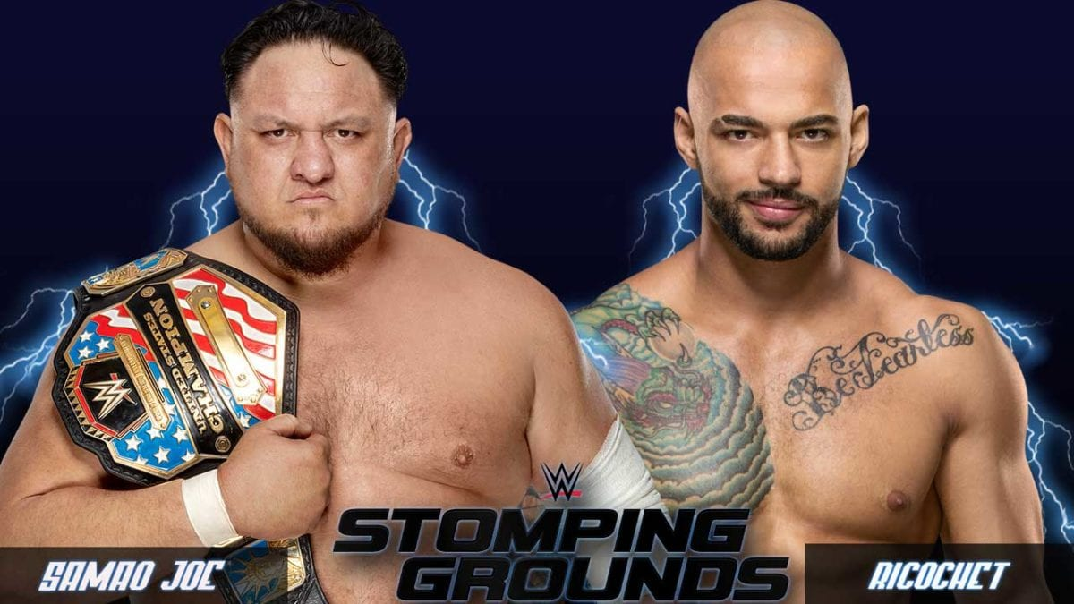 Samao Joe vs Ricochet United States Championship WWE Stomping Grounds 2019