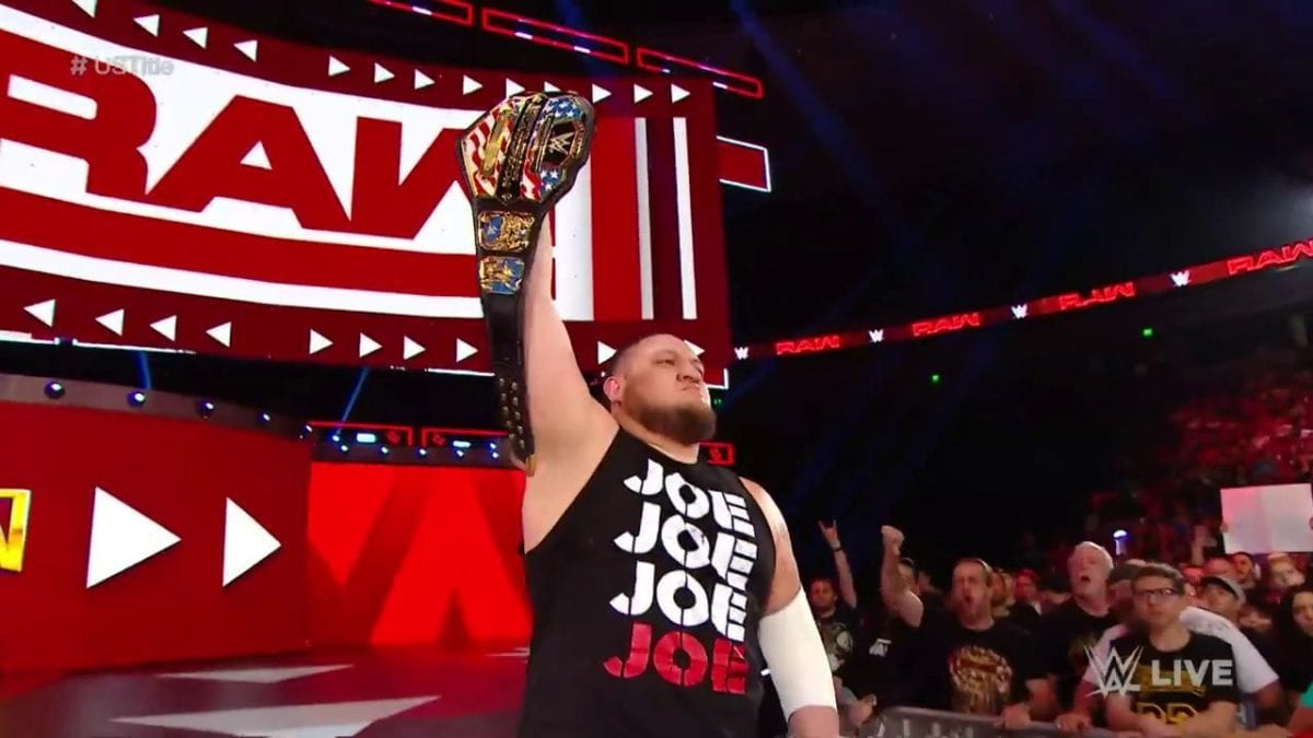 Samoa Joe United States Championship RAW 3 June 2019