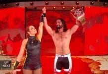 Seth Rollins & Becky Lynch at Stomping Grounds 2019