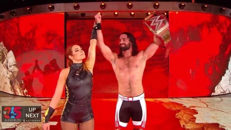 Becky Lynch helps Seth Rollins to Win at Stomping Ground