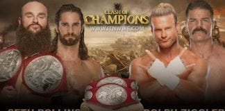 Seth Rollins & Braun Strowman vs Dolph Ziggler & Robert Roode's Raw Tag Team Championship WWE Clash of Champions 2019